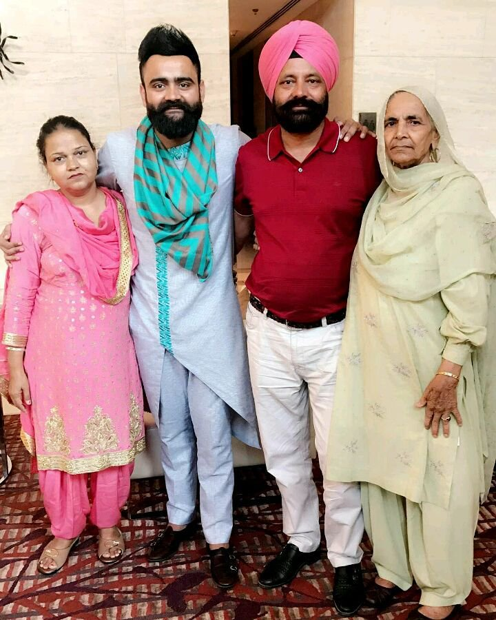 Amrit Maan family